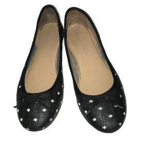 Banana Republic Black Polka Dot Flats Size 7